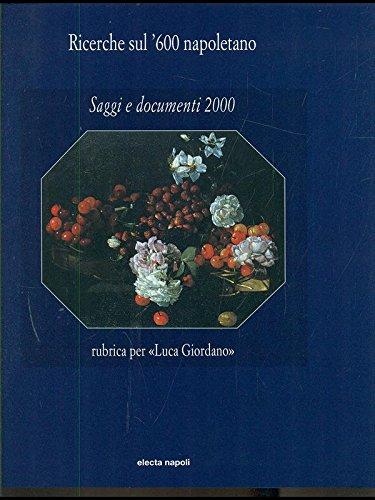 """Ricerche Sul '600 Napoletano.Saggi e Documenti 2000"""": Giuseppe De Vito"""