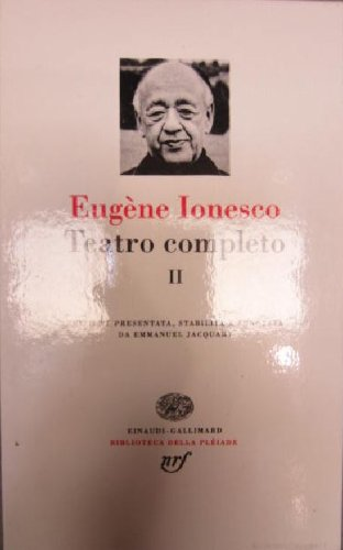 Teatro completo vol. 2 (8844600137) by Eugène Ionesco