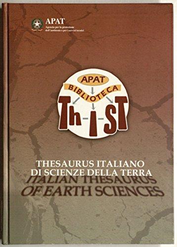 9788844802165: Thesaurus italiano di scienze della Terra