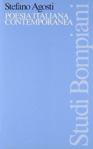 9788845226359: Poesia italiana contemporanea: Saggi e interventi (Studi Bompiani) (Italian Edition)