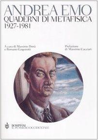 9788845256264: Quaderni di metafisica. 1927-1981 (Il pensiero occidentale)