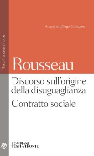 9788845272059: Discorso sull'origine della disuguaglianza. Contratto sociale. Testo francese a fronte