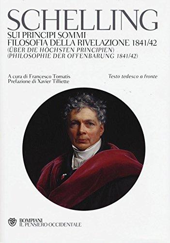 9788845280948: Sui principi sommi-Filosofia della rivelazione 1841-42. Testo tedeesco a fronte
