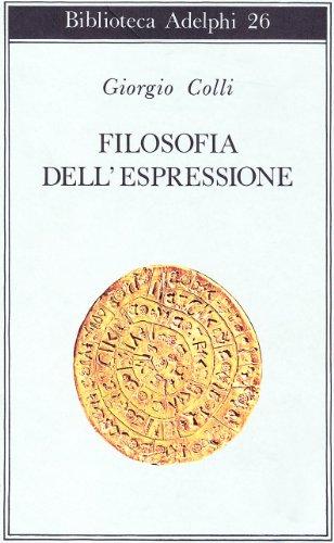 9788845900600: Filosofia dell'espressione (Biblioteca Adelphi)