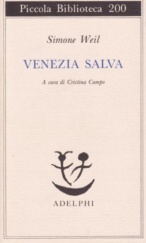 9788845902390: Venezia salva (Piccola biblioteca Adelphi)