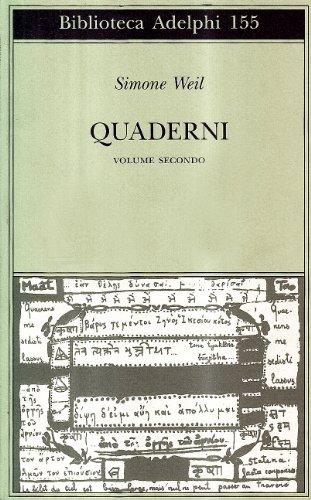 Quaderni. Vol.II. - Weil,Simone.