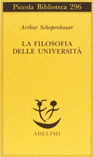 La filosofia delle università (8845909433) by SHOPENHAUER Arthur -