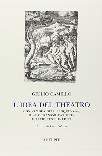 """L'Idea del Theatro. Con """"L'Idea dell'Eloquenza"""", il: Camillo Delminio Giulio"""
