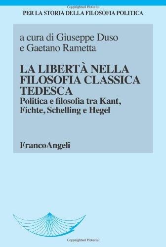 La libertà nella filosofia classica tedesca. Politica