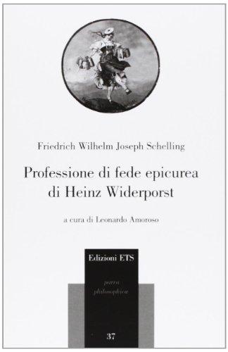 9788846735706: Professione di fede epicurea di Heinz Widerporst. Testo tedesco a fronte