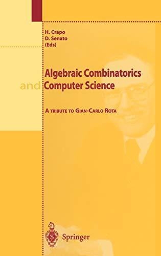 9788847000780: Algebraic Combinatorics and Computer Science