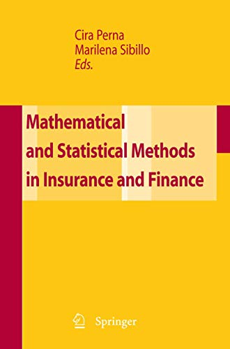 9788847007031: Mathematical and Statistical Methods for Insurance and Finance