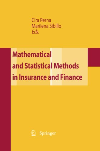 9788847056015: Mathematical and Statistical Methods for Insurance and Finance