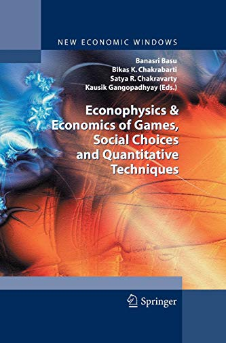 9788847058071: Econophysics & Economics of Games, Social Choices and Quantitative Techniques