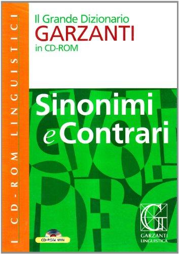 9788848003292: Grande dizionario dei sinonimi e contrari. CD-ROM (Dizionari su CD-ROM)