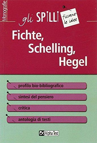 9788848306393: Fichte, Schelling, Hegel