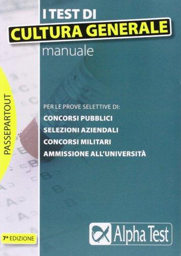 9788848312066: I test di cultura generale. Manuale