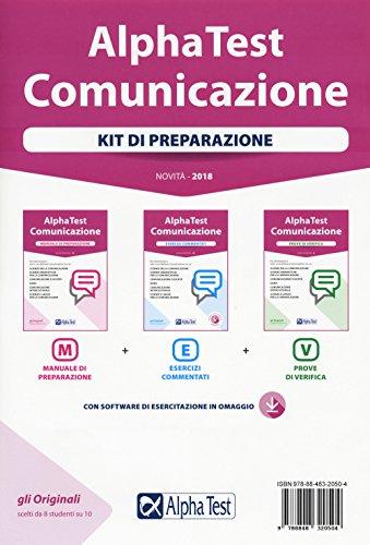 9788848320504: Alpha Test. Comunicazione. Kit di preparazione. Nuova ediz. Con software di simulazione