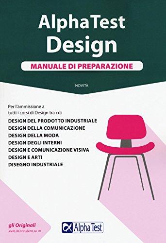 9788848320696: Alpha Test. Design. Manuale di preparazione