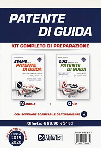 9788848321662: Patente di guida. Kit completo di preparazione: Manuale-Eserciziario. Con software di simulazione