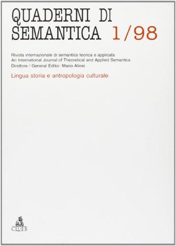 Quaderni di semantica (1998)