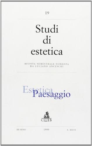 9788849114119: Studi di estetica (19). Estetica e paesaggio