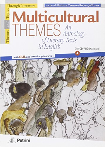 9788849412178: Multicultural themes. An anthology of literary texts in english. Con CD Audio. Per la Scuola media