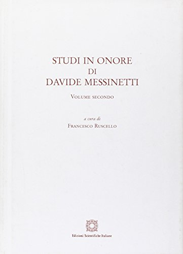 9788849518177: Studi in onore di Davide Messinetti: 2