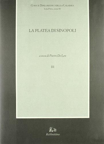 9788849813937: La Platea di Sinopoli (Varia)
