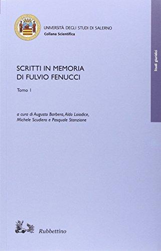 Scritti in memoria di Fulvio Fenucci.: Rubbettino
