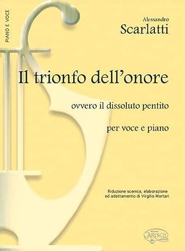 9788850700400: Scarlatti Trionfo Dellonore Vce/Pf