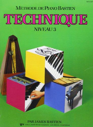 9788850700592: Bastien James Methode De Piano Bastien Technique Niveau 3 Pf Bk French