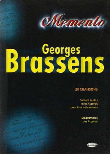 9788850702473: Brassens Georges Memento Lyrics & Chords Book