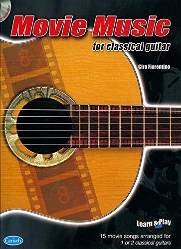 9788850714834: Partitions variété, pop, rock... CARISCH MOVIE MUSIC CLASSICAL + CD - GUITARE Musique films - comédies musical