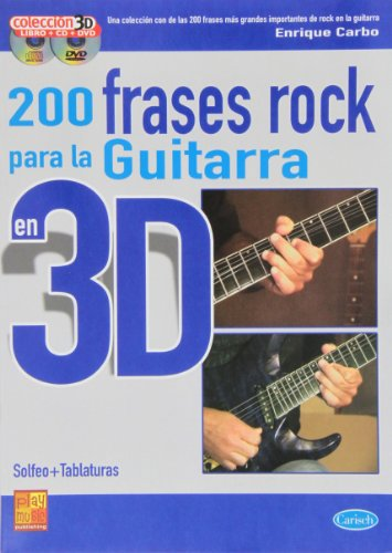 9788850718375: 200 FRASES ROCK GTR 3D+CD+DVD (Play Music Espana)