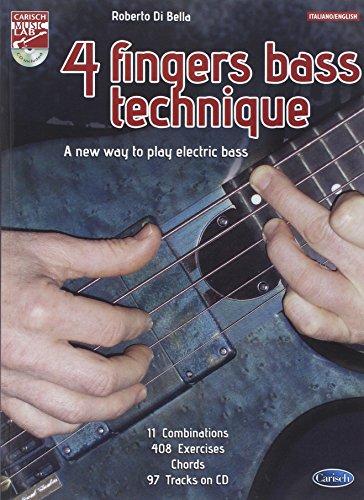 9788850727865: Bella 4 Fingers Bass Technique Bk/Cd. Sheet Music, CD for Bass Guitar