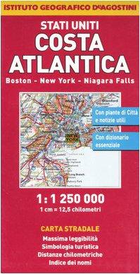 9788851105204: Stati Uniti. Costa Atlantica. Boston, New York, Niagara Falls 1:1.250.000