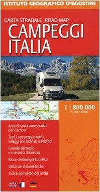 9788851110994: Campeggi Italia 1:800.000
