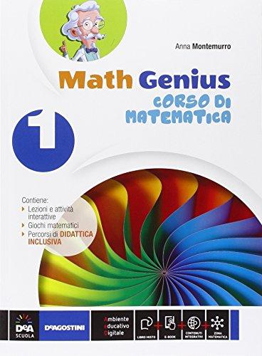 9788851119348: Math genius. Palestra matematica. Per la Scuola media. Con e-book. Con espansione online: 1