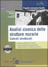 9788851307004: Analisi sismica delle strutture murarie. Calcoli strutturali. Con CD-ROM