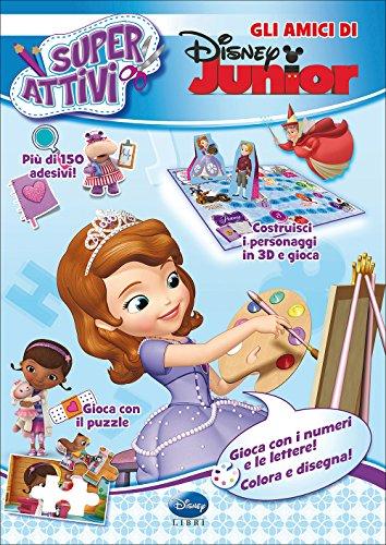 9788852216824: Gli amici di Disney Junior. Superattivi. Con adesivi