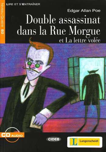 DOUBLE ASSASSINAT DANS LA RUE MORGUE B2: POE EDGAR LIVRE+CD