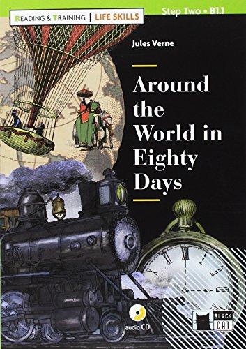 9788853016454: Around the world in eighty days. Con App. Con CD-Audio
