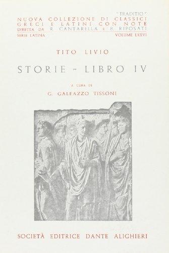 9788853405869: Storie. Libro 4° (Traditio. Serie latina)