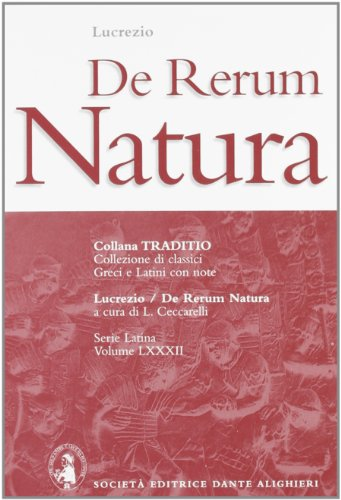 9788853405944: De rerum natura (Traditio. Serie latina)