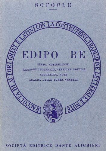 9788853423320: Edipo re. Versione interlineare