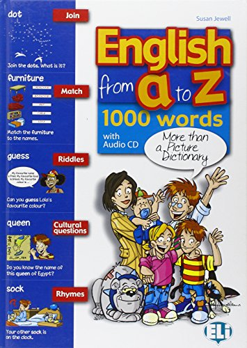 9788853611185: English from A to Z: Book + Audio CD