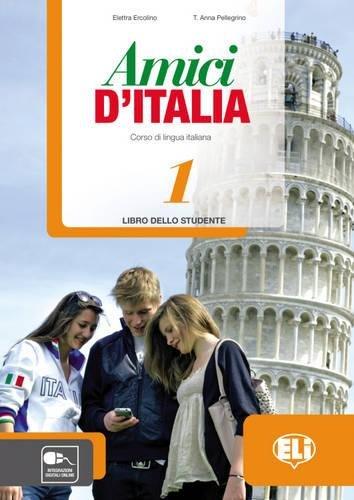 9788853615114: Amici d'Italia. Libro studente. Con espansione online. Con CD Audio. Per la Scuola media: 1