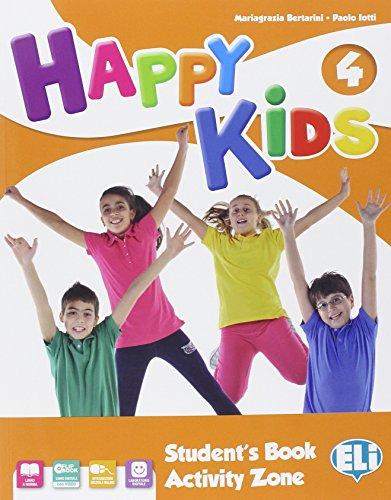 9788853618443: Happy kids. Per la Scuola elementare. Con e-book. Con espansione online: 4
