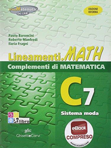 9788853805379: LINEAM.MATH COMPL.C7